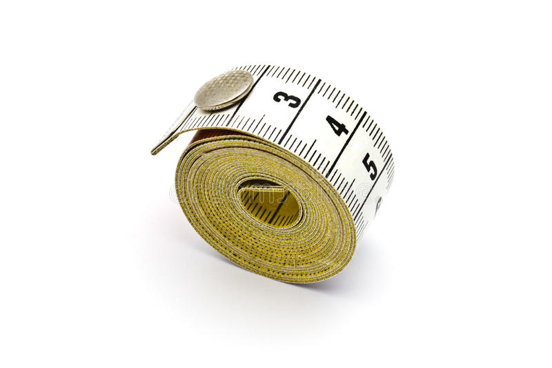 Tape measure. Isolated on white background royalty free stock photography