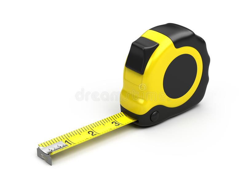 Download Tape measure stock illustration. Image of metal, inch - 21100715