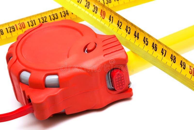 Tape-measure stockfoto