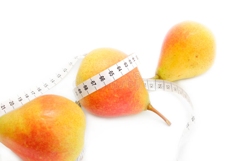 Pears On Tape Measure Stock Image  Image Of Health