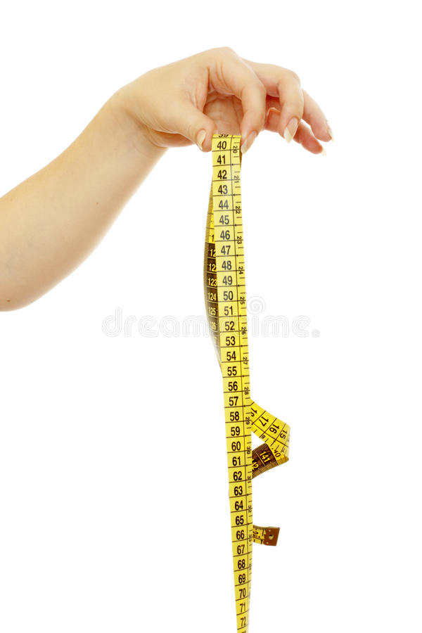 Download Tape Measure In A Beautiful Female Hand Stock Photo - Image: 14854528