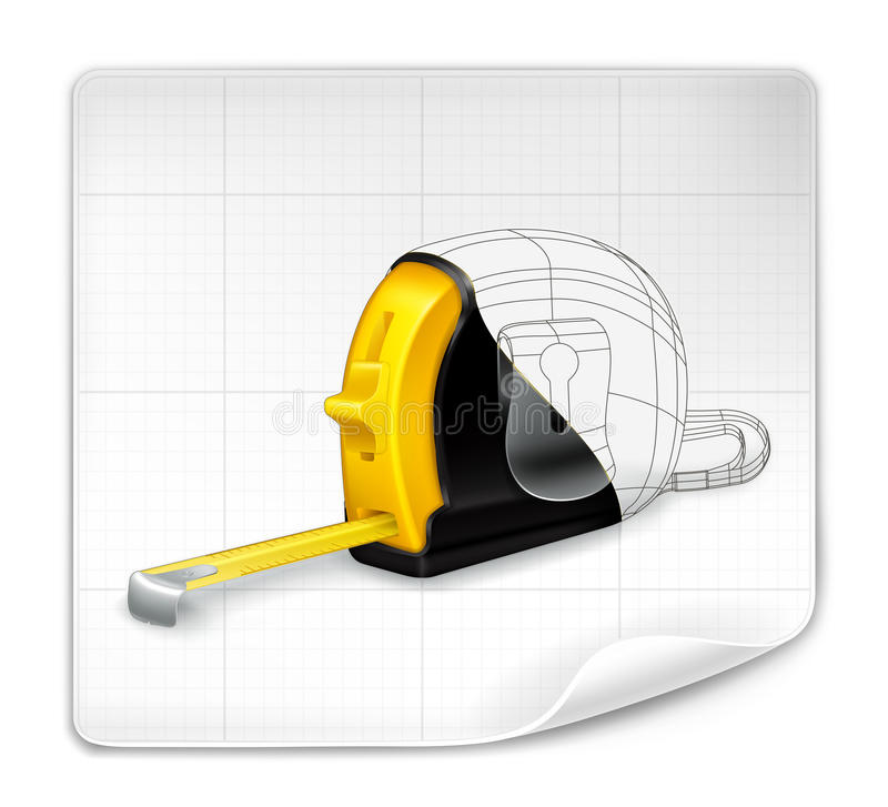 Download Tape Measure Drawing Royalty Free Stock Photography - Image: 25099717