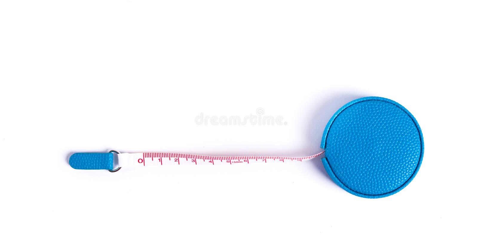 Tape measure for inches, centimeter, and millimeter. Small tape measure - measuring tool for inches, centimeter, and millimeter stock image