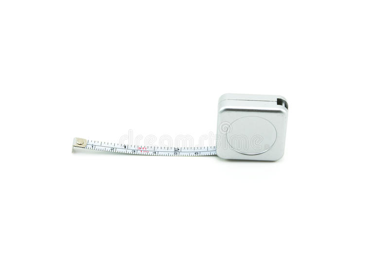 Tape measure isolated on white blackground royalty free stock images