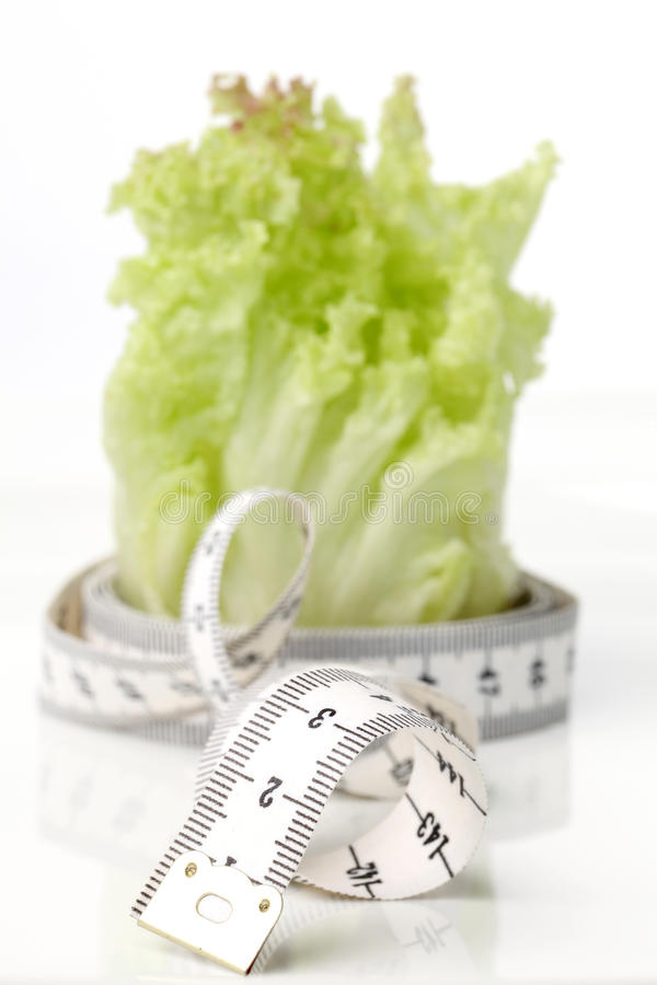 Download Tape measure and lettuce stock image. Image of selective - 15153605