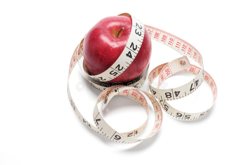 Download Tape Measure and Red Apple stock image. Image of fibre - 9974411