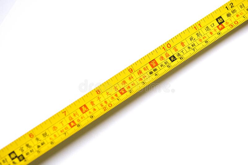 The tape measure. With scale can measure the length royalty free stock photo