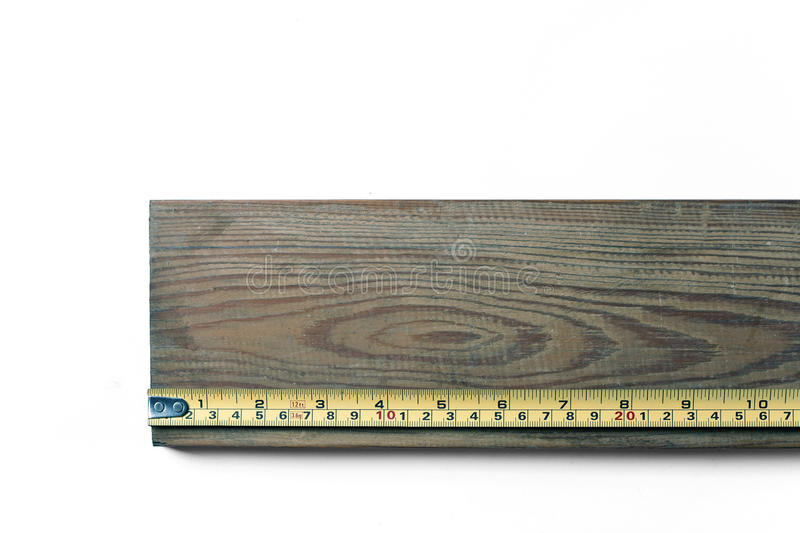 Tape Measure on Wood stock photos