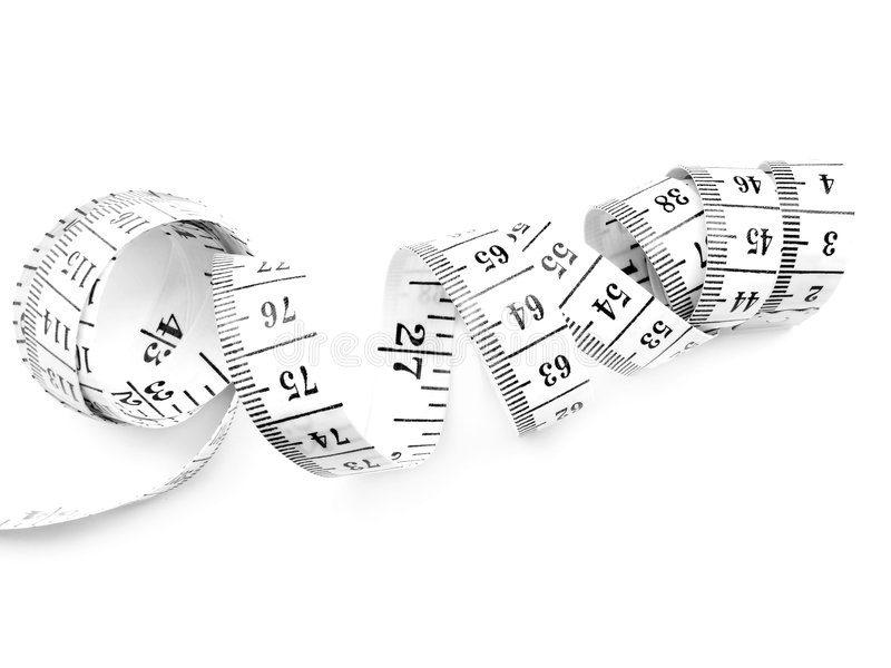 Tape measures. Isolated on white royalty free stock image