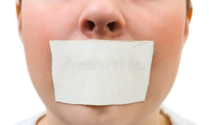 Download Tape over mouth stock image. Image of help, paper, label - 8820463