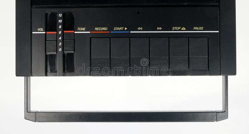Download Tape recorder stock image. Image of pause, vein, button - 14535169