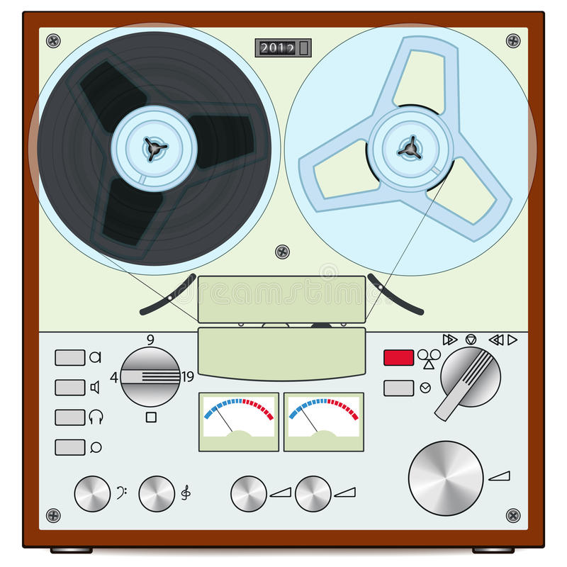 Download Tape recorder stock vector. Illustration of audio, gear - 26558153