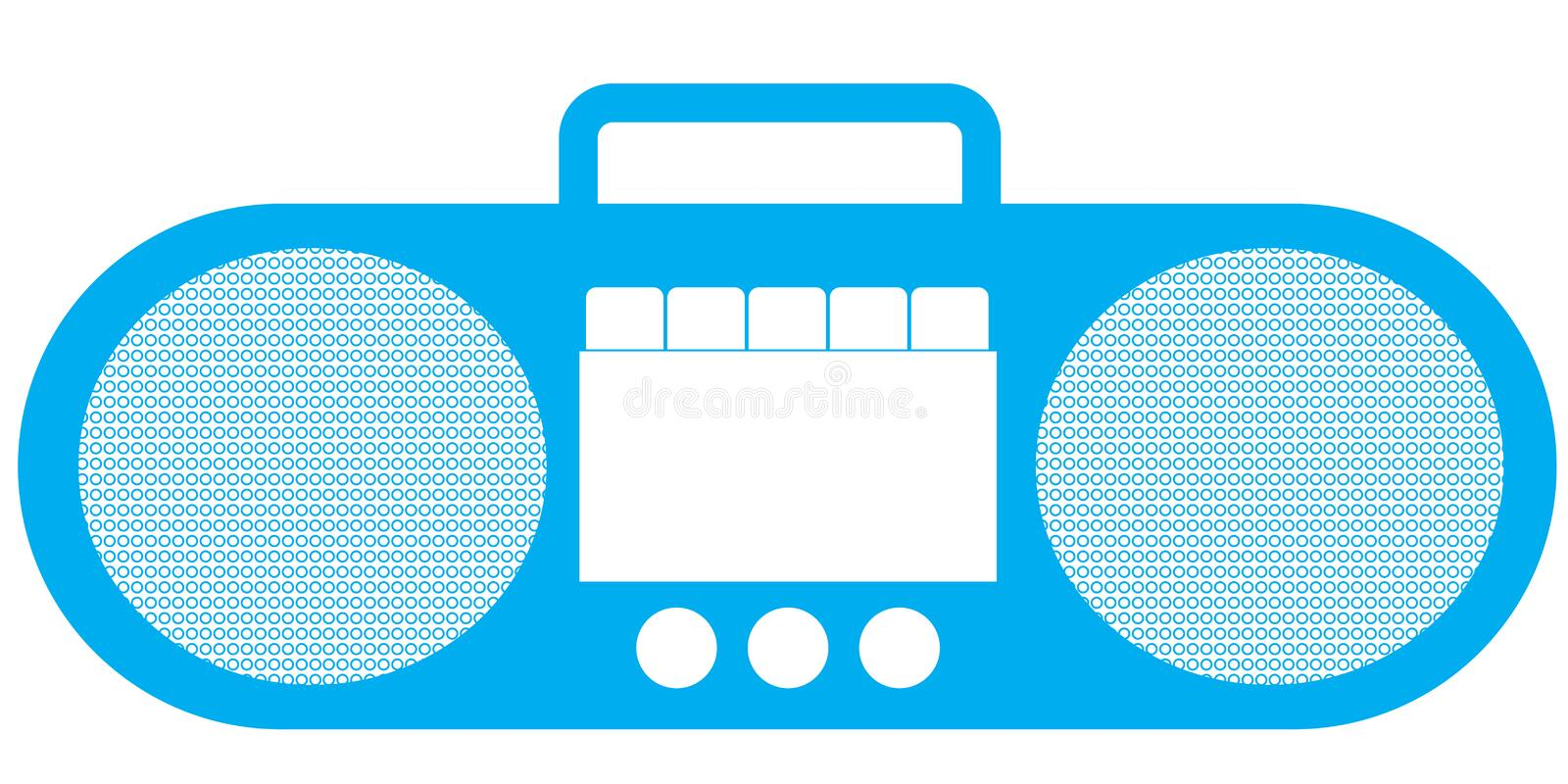 Download Tape recorder - Retro stock vector. Image of boombox - 24331879