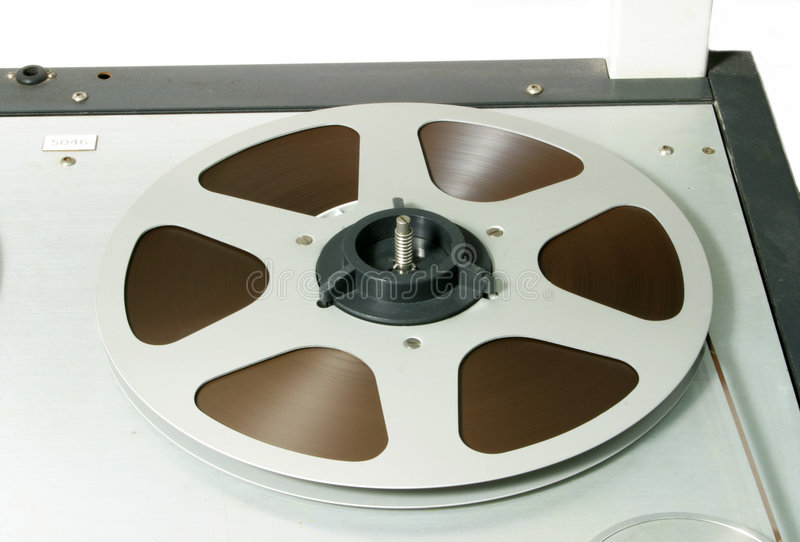 Tape Reel on recorder royalty free stock photos