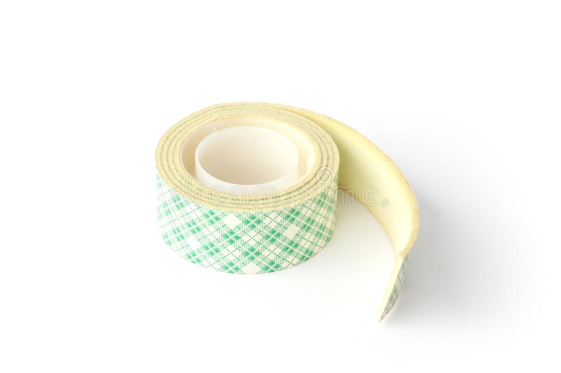 Tape roll of double-sided adhesive royalty free stock photo