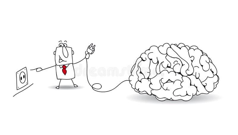 Tape su cerebro ilustración del vector