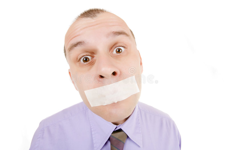 Download Taped mouth stock photo. Image of male, closed, tape, business - 7921258
