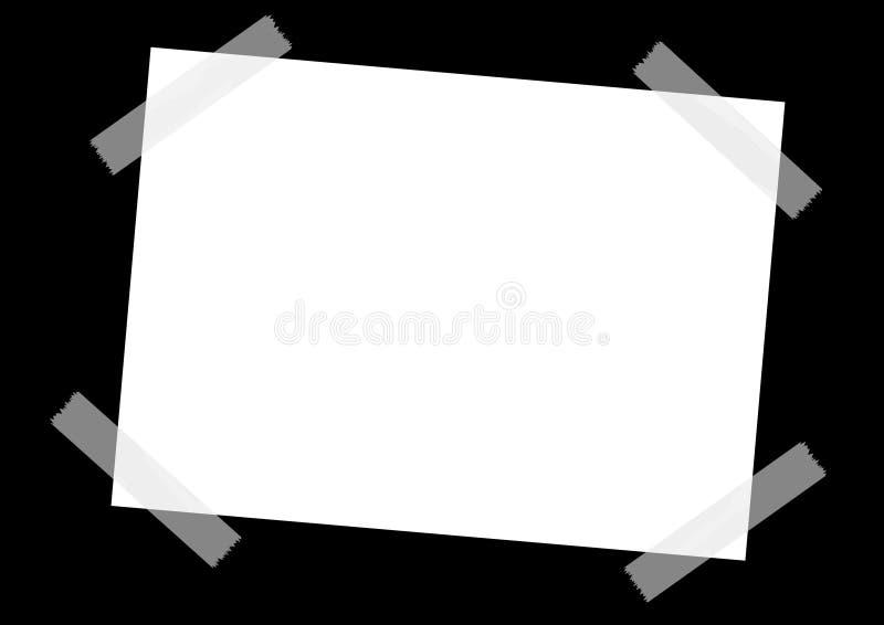 Taped sheet royalty free stock photos