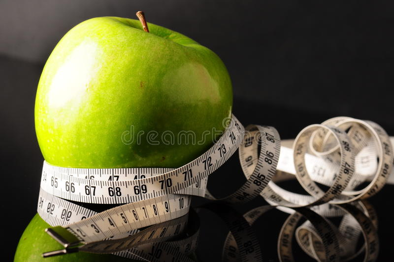 tapeline яблока стоковое изображение rf