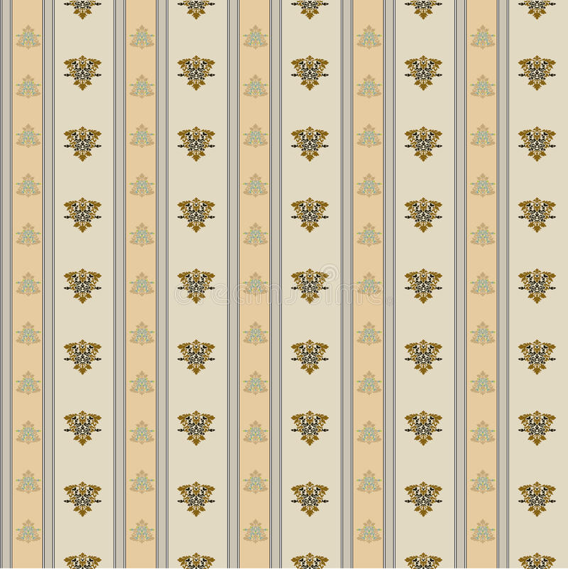 Tapestry 118. A seamless tapestry pattern in pastels in renaissance style royalty free illustration