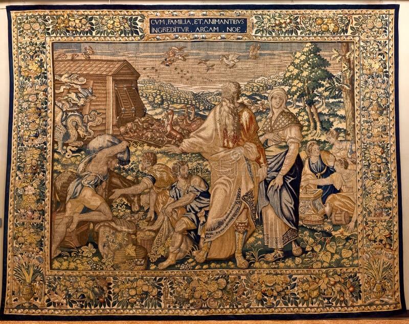 Tapestry Noahs Ark, Ca doro, Venice, Italy royalty free stock photos