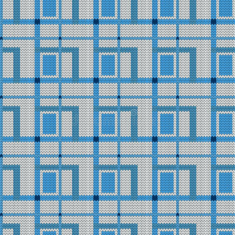 Tapestry tartan seamless pattern. Vector geometric checked background. Embroidery squares. Fancywork texture. Embroidered for stock illustration