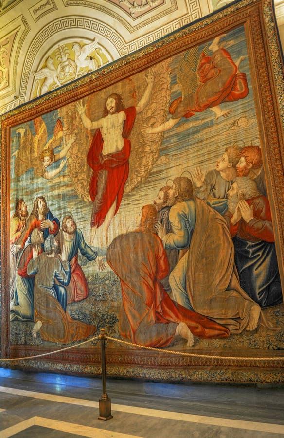 Tapestryin Watykan muzea obrazy royalty free
