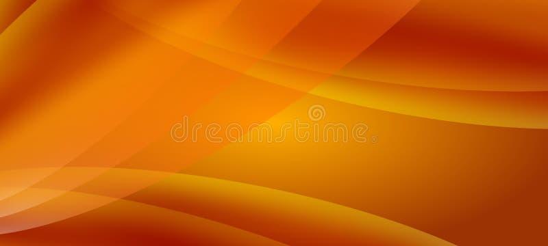 Tapet abstrakt orange vågbakgrund vektor illustrationer