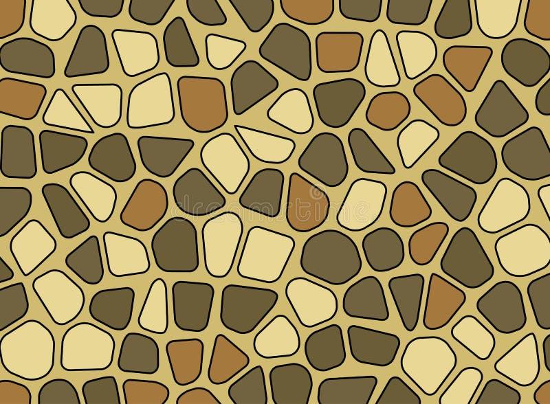 Tapet för bakgrund för vektor för mosaik för stenkiselstentextur stock illustrationer