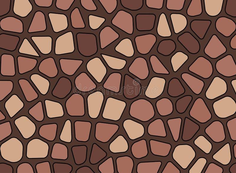 Tapet för bakgrund för vektor för mosaik för stenkiselstentextur royaltyfri illustrationer