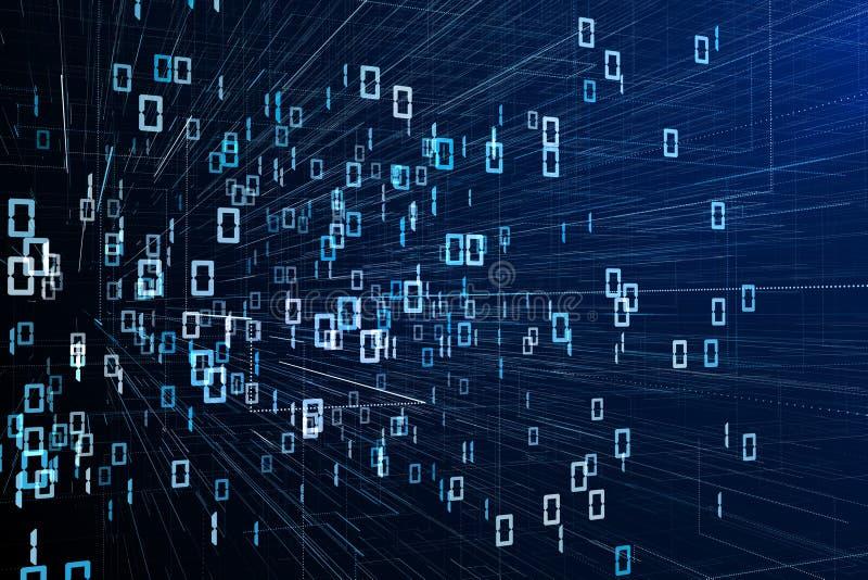 Tapet för binär kod stock illustrationer
