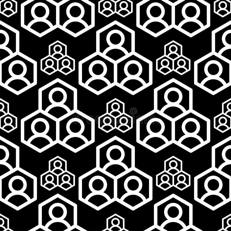 Tapet för illustration för vektor för bakgrund för textur för abstrakt för geometrifyrkant sömlös svart för modell geometrisk gra stock illustrationer