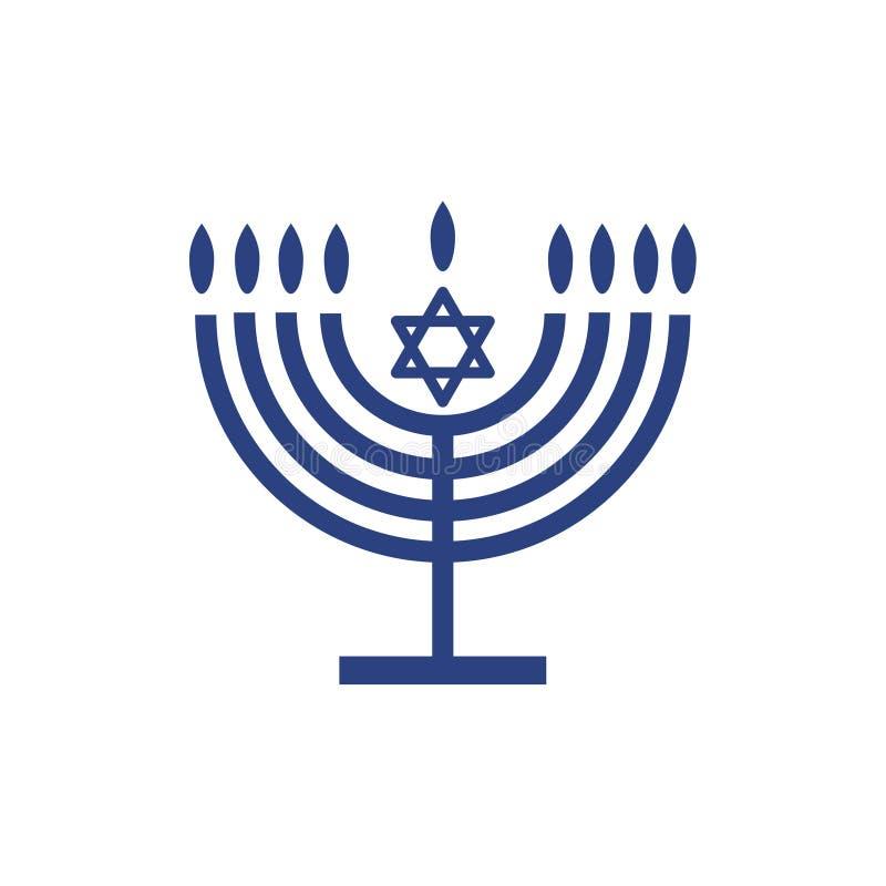 Tapet för menoraChanukkahsymbol stock illustrationer