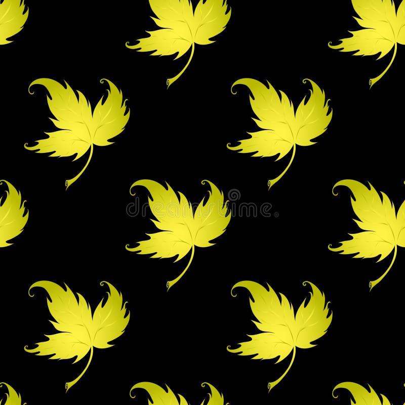 Tapeta z fryzowania liść roślina ilustracji