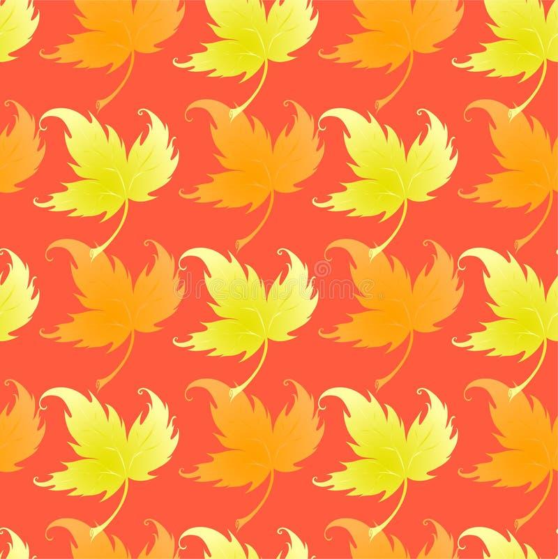 Tapeta z fryzowania liść roślina ilustracja wektor