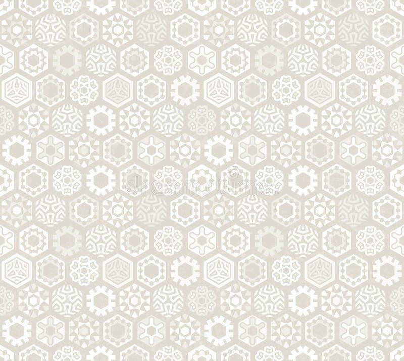 Tapeta z stylizowanymi płatkami śniegu ilustracji