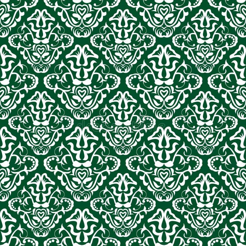 Tapeta zielony wzór ilustracji