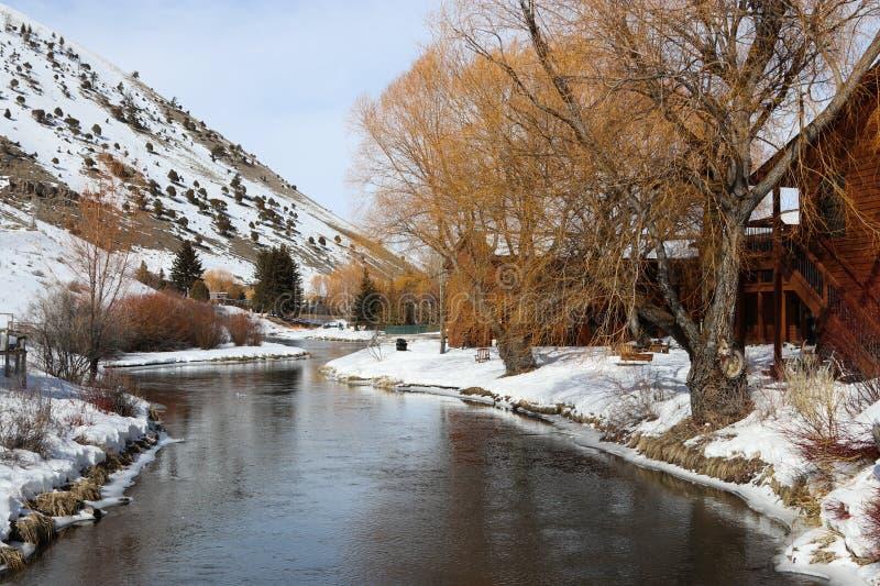 Tapeta: zima krajobraz w Wyoming obrazy stock