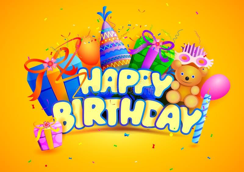 Tapetbakgrund för lycklig födelsedag royaltyfri illustrationer