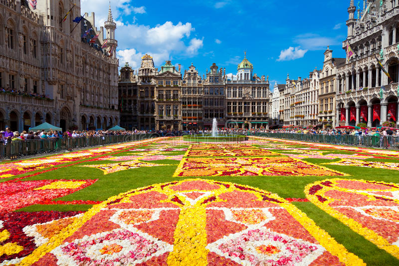 Tapete 2010 da flor, Bruxelas. fotografia de stock royalty free