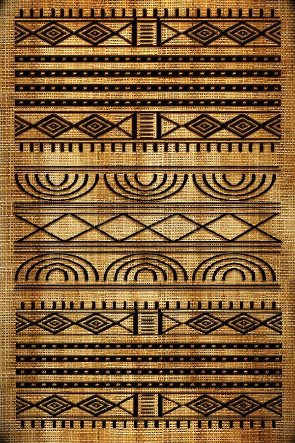 Tapete africano ilustração royalty free