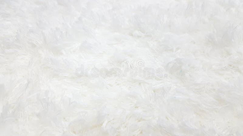Tapete branco de lãs para o fundo ou para decorar na casa imagens de stock royalty free