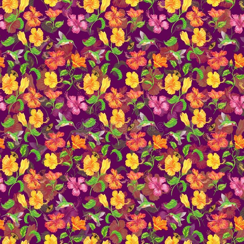 Tapete der Hibiscusblume stockbild