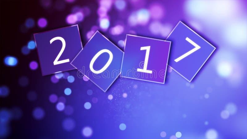 Tapete des neuen Jahres 2017 lizenzfreie stockfotografie