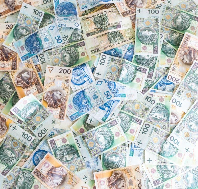 Tapete des polnischen Geldes lizenzfreies stockbild