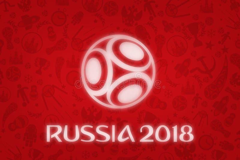 Tapete des Weltcup-2018 - Weltfußball-Turnier in R lizenzfreie stockbilder