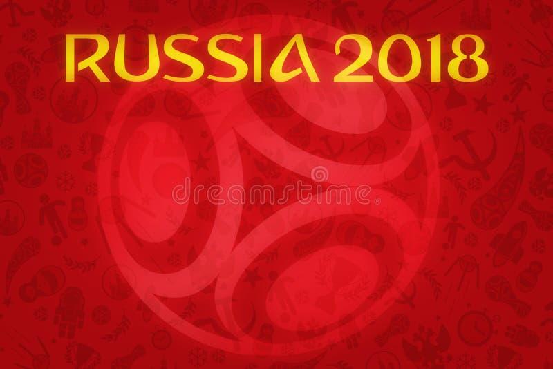 Tapete des Weltcup-2018 - Weltfußball-Turnier in R stockbilder