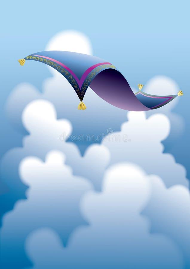 Download Tapete mágico 2 ilustração do vetor. Ilustração de azul - 12800054
