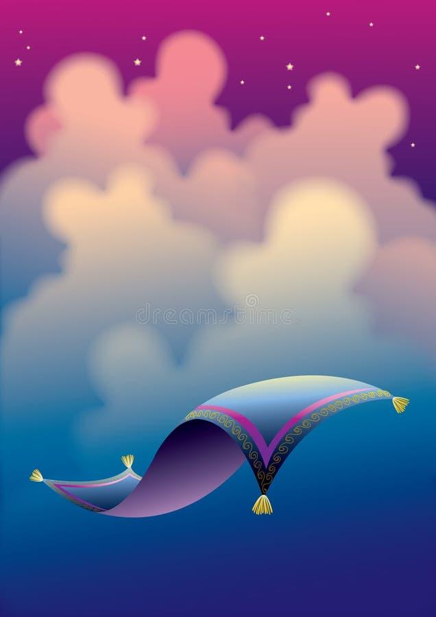 Download Tapete mágico 3 ilustração do vetor. Ilustração de árabe - 12800130
