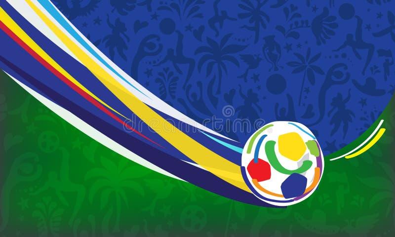 Tapete Meisterschaft Conmeball Copa Amerika abstrakter dynamischer Fußball-Brasilien-Fußball 2019 stock abbildung